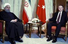 Erdoğan ile Ruhani üçlü zirve öncesi görüştü