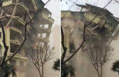 Bursa'da yıkımına başlanan bina çöktü! Dehşet anları kamerada
