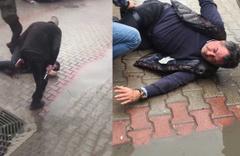 Bursa'da tapu dairesi önünde silahlı kavgada şok görüntüler