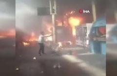 Mısır'ın Başkenti Kahire'de tren istasyonunda yangın çıktı 24 kişi öldü