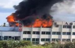Girne Amerikan Üniversitesi'nde korkutan yangın!