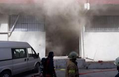 Bağcılar'da 3 katlı kağıt fabrikasında yangın