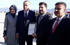 Cumhurbaşkanı Erdoğan mektup arkadaşı ile görüştü
