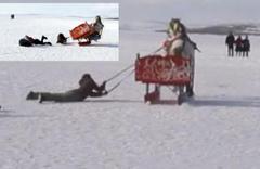 Çıldır Gölü'nde driftin sonu kötü bitti böyle yuvarlandılar