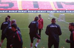 A Milli Takım Moldova maçı hazırlıklarını tamamladı