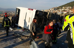 Bursa'daki ölüm yoluna bariyerli önlem