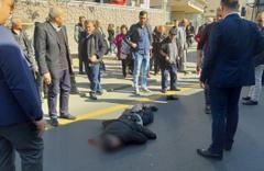 Ankara'da korkutan kaza! EGO otobüsü yayaya çarptı