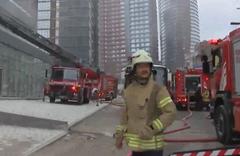 Fikirtepe'de 25 katlı binada yangın