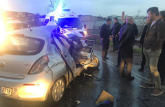 Sancaktepe'de kaza çok sayıda yaralı var