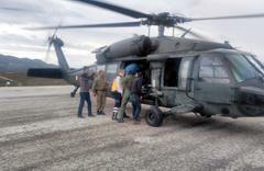 Tunceli'de askeri helikopter 9 aylık bebek için havalandı