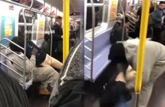 Bir anda bacağını kopardı! Metroda korku dolu anlar