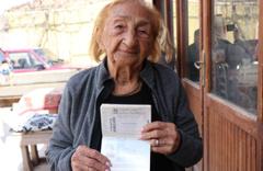 Bir asırdır hayalini kurduğu Kapadokya'da 113. yaşını kutladı