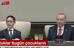 Erdoğan'ın koltuğu devrettiği çocuktan kabine revizyonu sorusuna yanıt