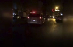 İstanbul'da nefes kesen kovalamaca kamerada! Havaya ateş açtılar