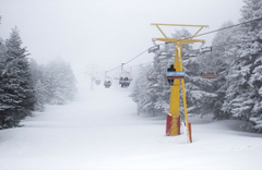 Uludağ'da Mayıs ayında kar sürprizi