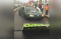 Kural ihlali yapan sürücüye baltalı saldırı