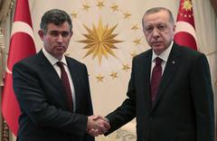 Erdoğan, TBB Başkanı Metin Feyzioğlu'nu kabul etti