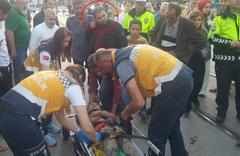 Bursa'da oğlu kaza geçiren babanın hareketleri şaşırttı