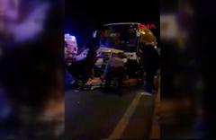 Kırşehir'de yolcu otobüsü otomobile çarptı, 3 ölü
