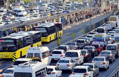 Navigasyon uygulamasının çıkardığı bayram trafik haritası