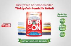 Türkiye'nin bor madeninden Türkiye'nin temizlik ürünü