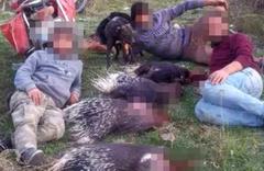 Hatay'da öldürdükleri okul kirpilerle çekilen fotoğrafa ceza!