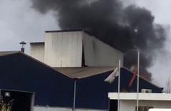 Osmaniye'de durda fabrikasındaki atık yağ tankı patladı