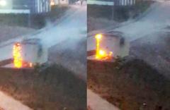 Muğla'nın Menteşe ilçesinde trafo böyle patladı