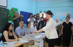 HDP Eş Genel Başkanı Pervin Buldan'ın oy kullandı