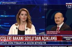 Süleyman Soylu'dan Nagehan Alçı'ya tepki! Habertürk canlı yayını aradı