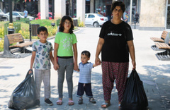 Gaziantep'te eşinden şiddet gören kadın 3 çocuğuyla sokakta yaşıyor