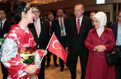 Japonya'da Cumhurbaşkanı Erdoğan'a özel kimonolu karşılama