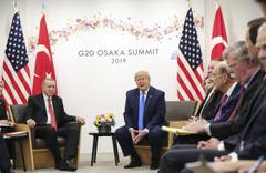 Cumhurbaşkanı Recep Tayyip Erdoğan'ı ABD Başkanı Donald Trump ile görüştü