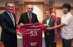 Cumhurbaşkanı Erdoğan Jopon takımın yöneticileriyle görüştü