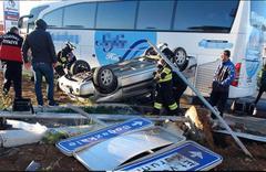 Yozgat'ta yolcu otobüsü ile otomobil çarpıştı! Çok sayıda yaralı var