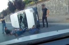 Film gibi hırsız-polis kovalamacası! Kaza anı kamerada