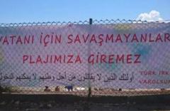 Sinop'ta plaja asılan o pankartı kimin astığı belli oldu