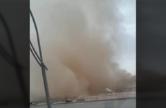 Kırşehir'de toz bulutu oluştu