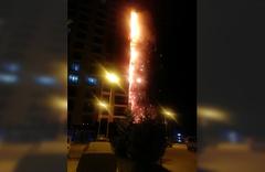 Ankara'da 16 katlı binada korkutan yangın