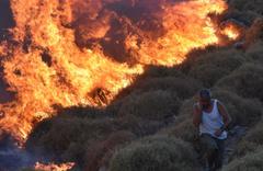 Muğla'nın Bodrum ilçesinde çıkan yangın güçlükle kontrol altına alındı