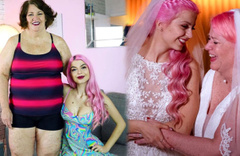 'Yok artık' dedirten düğün 24 yaşındaki YouTuber güzeli 61 yaşındaki kız arkadaşıyla evlendi!