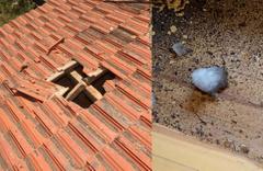 Gökyüzünden düşen buz kütlesi evinin çatısına çakıldı! Gerçek sonradan ortaya çıktı