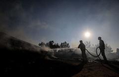 Çanakkale'deki yangından geriye kalan çok acı kareler