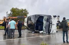 Çanakkale'de yolcu otobüsü devrildi! Ölü ve çok sayıda yaralı var