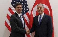 Milli Savunma Bakanı Akar ile ABD'li mevkidaşı Güvenli Bölge'yi görüştü