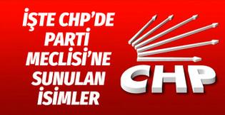İşte CHP'de Parti Meclisi'ne sunulan isimler