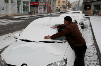 Hava durumu ısı eksi 4'e düştü kar başladı!