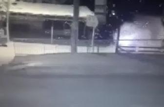 Silvan'da polis aracına roketatarlı saldırı güvenlik kamerasında
