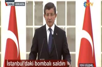 Davutoğlu: Saldırının faili yabancı uyruklu DEAŞ üyesi