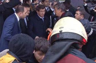 Başbakan Davutoğlu kazaya müdahale etti